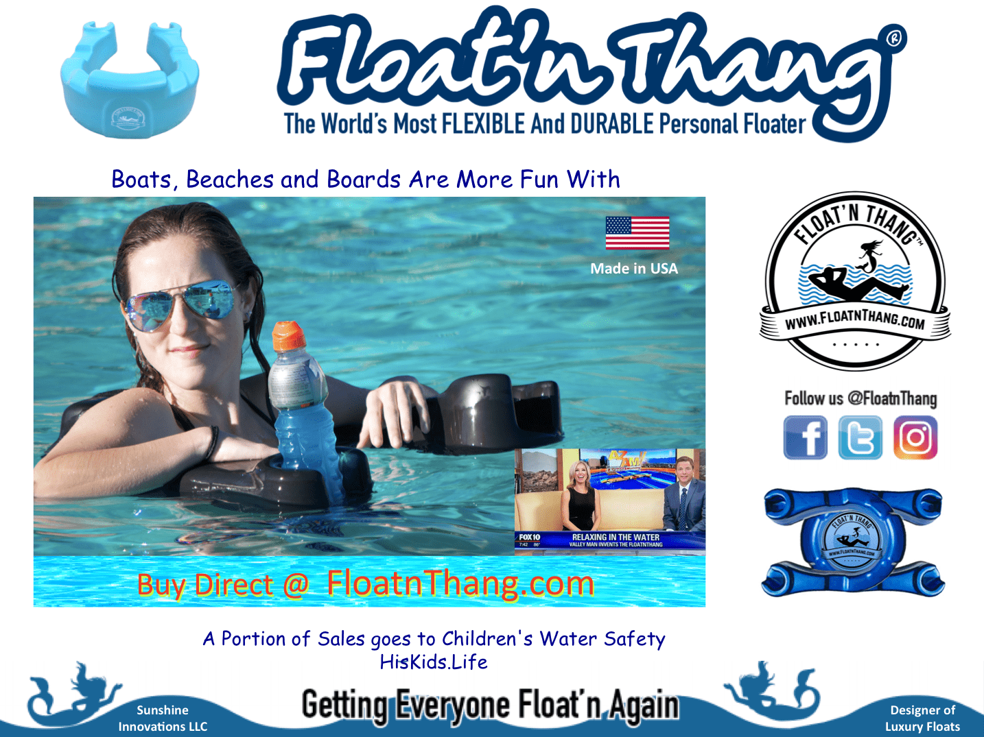 World Most Luxurious In-Water Flotation - Luxury Personal Flotation Device