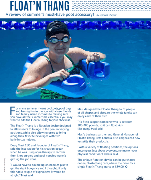 Float'n Thang a review of summer must-jhave pool accessory